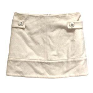 Jill Stuart cream crystal detail tweed mini skirt